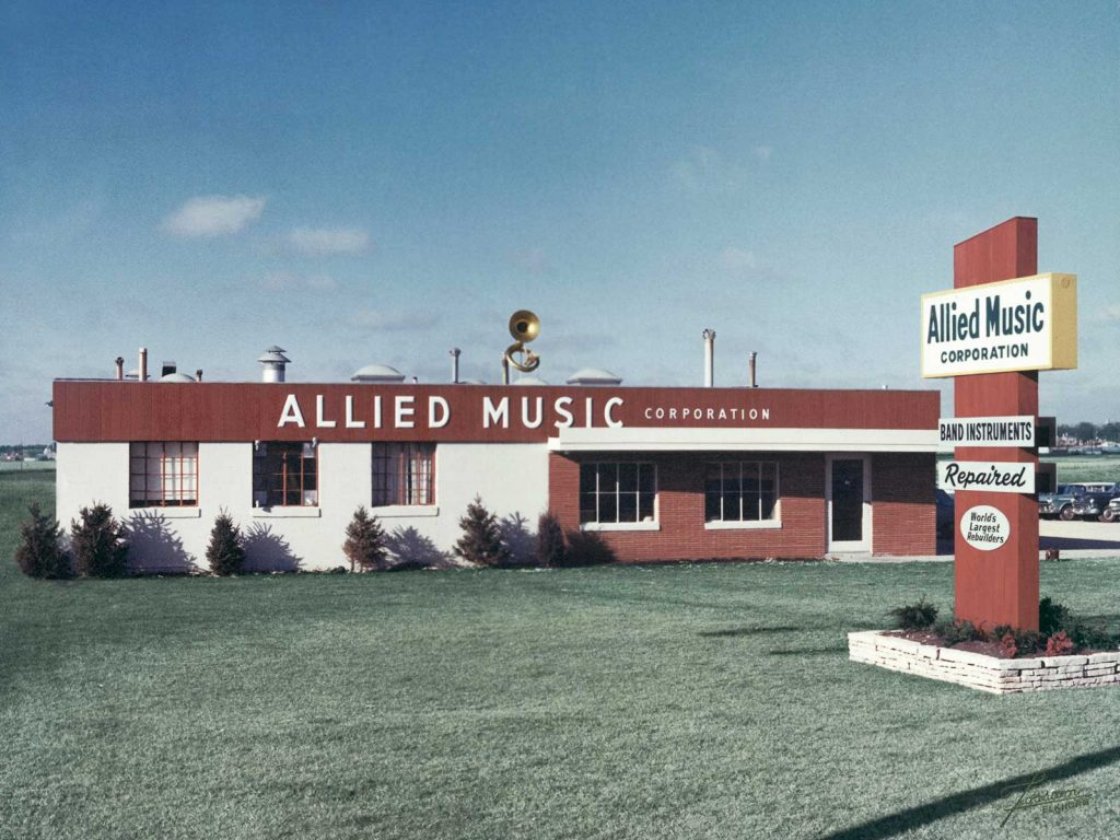 Allied Music Building in 1959
